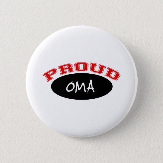 Proud Oma (Black and Red) 6 Cm Round