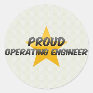 Proud Operating Engineer Classic Round Sticker