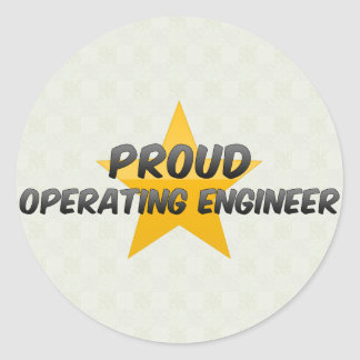 Proud Operating Engineer Round Sticker