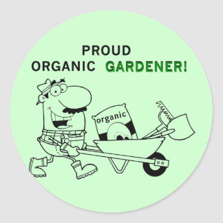Proud Organic Gardener Tshirts and Gifts Round Stickers
