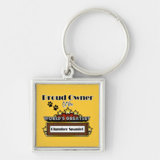 Proud Owner World s Greatest Clumber Spaniel Keychain