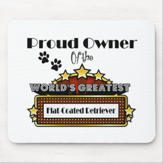 Proud Owner World's Greatest Flat-Coated Retriever Mouse Pad