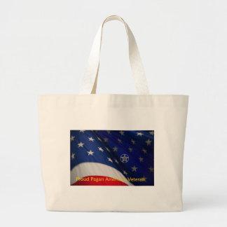 Proud Pagan American Veteran Canvas Bags