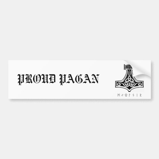 Proud Pagan/Mjolnir Bumper Sticker