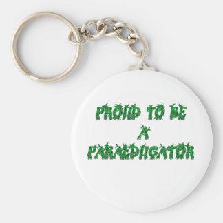 PROUD PARA green Basic Round Button Key Ring