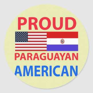 Proud Paraguayan American Classic Round Sticker