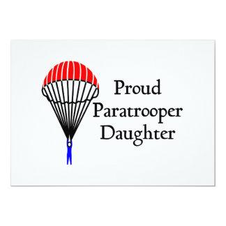 Proud Paratrooper Daughter 13 Cm X 18 Cm Invitation Card
