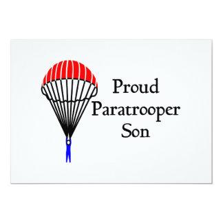 Proud Paratrooper Son 13 Cm X 18 Cm Invitation Card