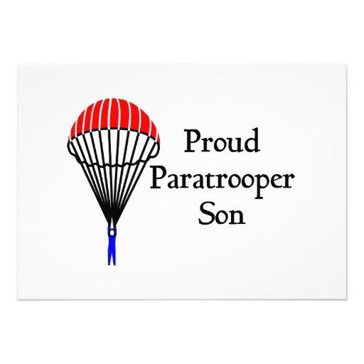 Proud Paratrooper Son Invites