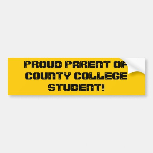 Proud Parent County Bumper Sticker