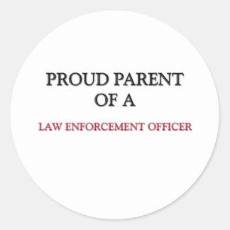 Proud Parent Of A LAW ENFORCEMENT OFFICER Stickers