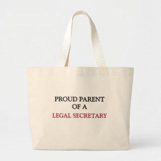 Proud Parent Of A LEGAL SECRETARY Canvas Bag
