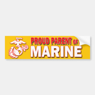 Proud Parent of a Marine Bumper Sticker