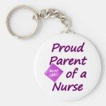 Proud parent of a Nurse Keychain