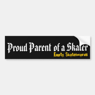 Proud Parent of a Skater Bumper Sticker