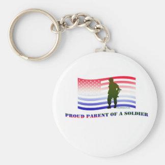 PROUD PARENT OF A SOLDIER KEYCHAIN