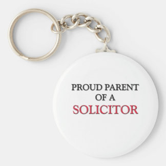 Proud Parent Of A SOLICITOR Basic Round Button Key Ring