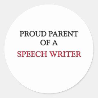 Proud Parent Of A SPEECH WRITER Stickers