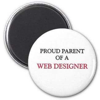Proud Parent Of A WEB DESIGNER Refrigerator Magnet