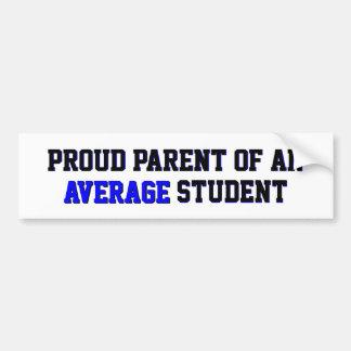 Proud Parent of an Average Student Blue Bumper Sticker