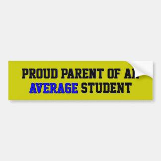 Proud Parent of an Average Student Colors Bumper Sticker