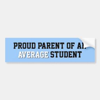 Proud Parent of an Average Student Light Blue Bumper Sticker