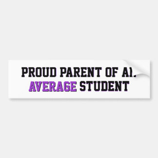 Proud Parent of an Average Student Purple Bumper Sticker