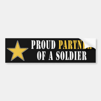 Proud Partner of a Soldier Car Bumper Sticker