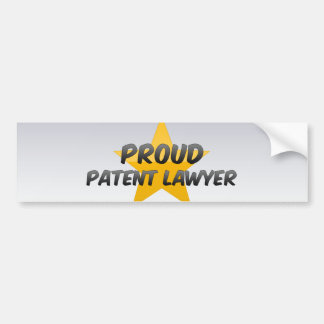 Proud Patent Lawyer Bumper Stickers