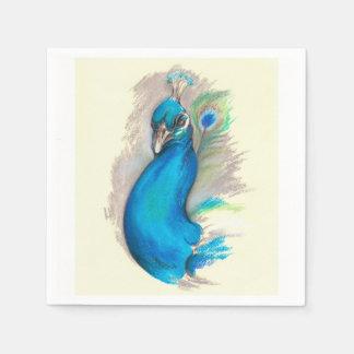 Proud Peacock Disposable Napkins