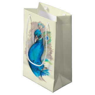 Proud Peacock Elegant Small Gift Bag