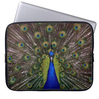 Proud Peacock laptop sleeves