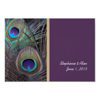 Proud Peacock Purple Information Card 9 Cm X 13 Cm Invitation Card