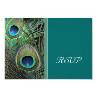 Proud Peacock RSVP Card 9 Cm X 13 Cm Invitation Card