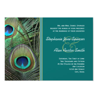 Proud Peacock Wedding Invitation