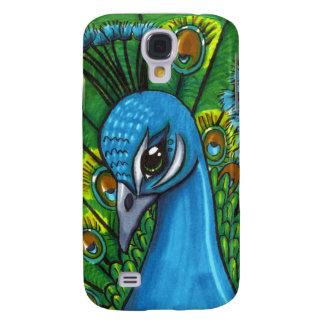 Proud Peafowl illustration Galaxy S4 Case