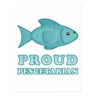Proud Pescetarian Postcard