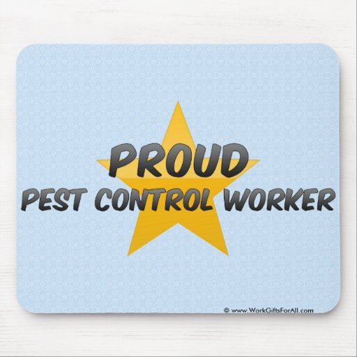 Proud Pest Control Worker Mouse Pad