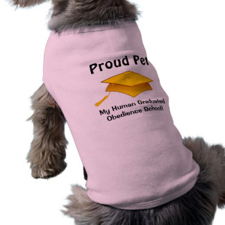 Proud Pet - Human Obedience School Graduate Sleeveless Dog Shirt