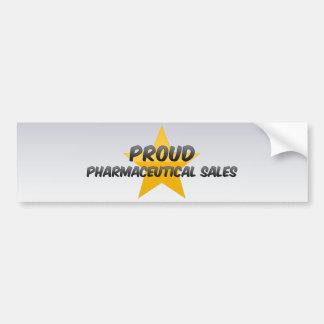 Proud Pharmaceutical Sales Bumper Sticker