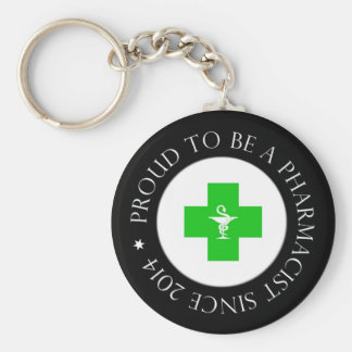 Proud Pharmacist Since 2014 Key Ring