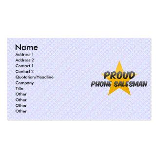 Proud Phone Salesman Business Cards