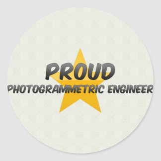 Proud Photogrammetric Engineer Round Sticker