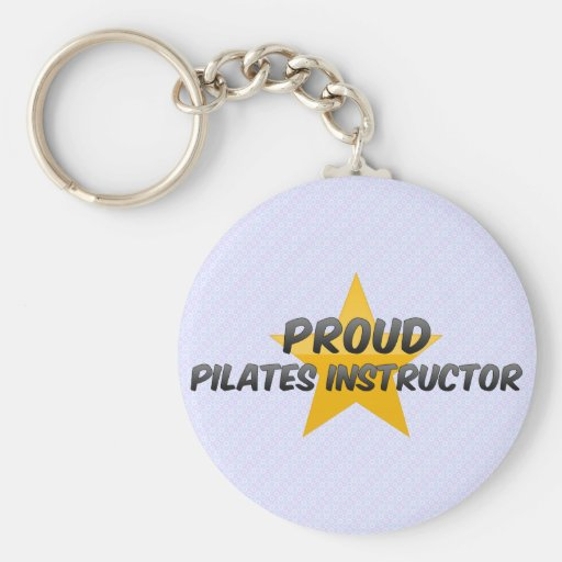 Proud Pilates Instructor Basic Round Button Key Ring