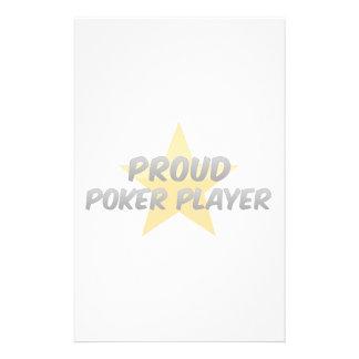 Proud Poker Player Stationery Design