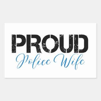 Proud Police Wife Rectangular Sticker