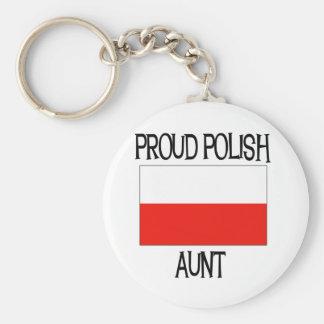 Proud Polish Aunt Key Ring