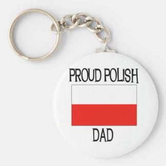 Proud Polish Dad Key Ring