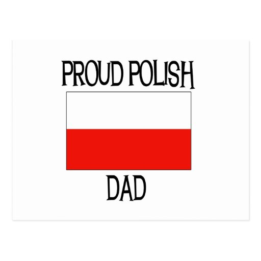 Proud Polish Dad Postcard