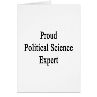 Proud Political Science Expert Card